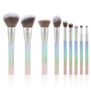 (Only ship to the USA )AURORA 9 Pieces Makeup Brush Set With Bag DOCOLOR OFFICIAL