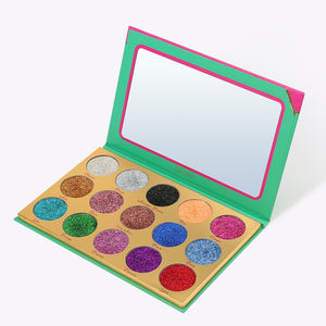 (Only ship to the USA )Heat 15 Color Glitter Palette DOCOLOR OFFICIAL