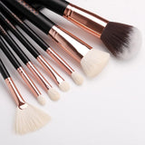 (ONLY ship to the USA now) 15 Pcs Rose Gold Brush Set and Brush Cleaner DOCOLOR OFFICIAL