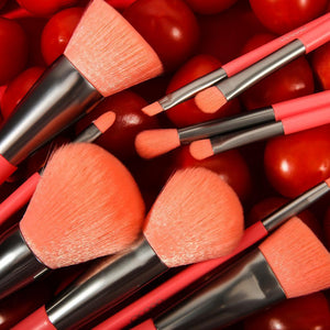 (ONLY ship to USA )Neon Peach - 10 Pieces Synthetic Brush Set DOCOLOR OFFICIAL