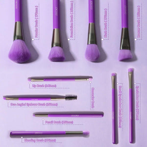 (ONLY ship to USA )Neon Purple - 10 Pieces Synthetic Makeup Brush Set DOCOLOR OFFICIAL