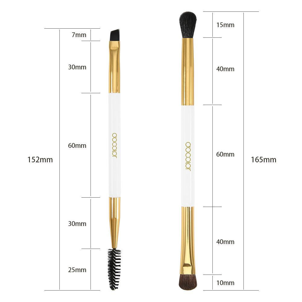 Professional Eyebrow Brush With Eyebrow Comb - White DOCOLOR OFFICIAL