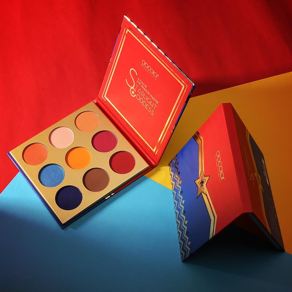 Starlight Goddess 9 Color Eye Shadow Palette DOCOLOR OFFICIAL