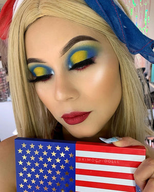 Stars & Stripes - 15 Color Eye Shadow Palette DOCOLOR OFFICIAL