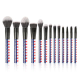 Stars&Stripes - 13 Pieces Makeup Brush Set
