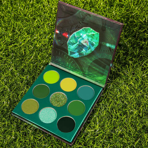Time - 9 Colors Shadow Palette (Green) DOCOLOR OFFICIAL