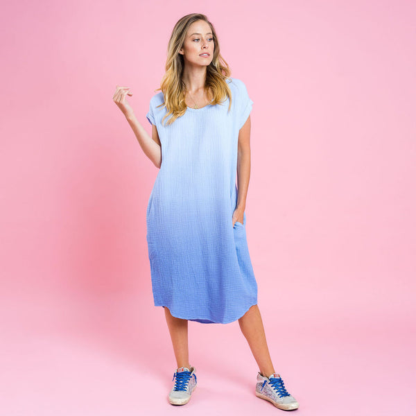 Toni Dress - Blue Ombre - Kireina Australia