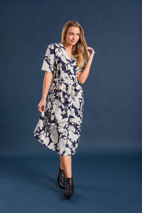 Everly Dress - Navy and White - Kireina Australia