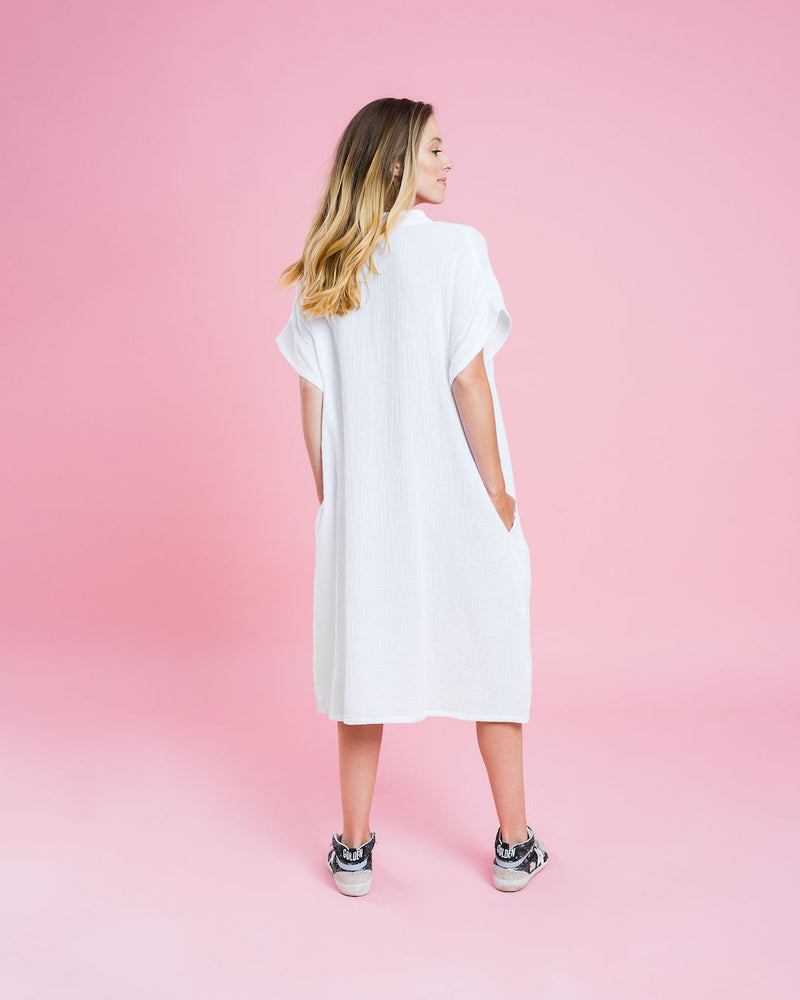 Sienna Dress - White - Kireina Australia