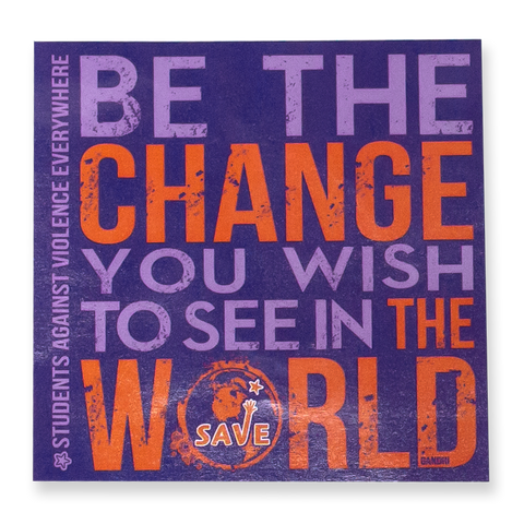 CLOSEOUT: 50 Be The Change Stickers