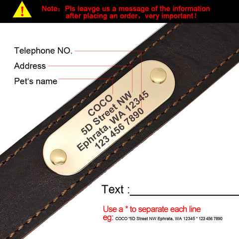 supple personalized collar