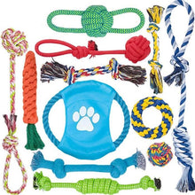 Load image into Gallery viewer, 12 Pack Dog Rope Toys Dog Toy My Pets Gate