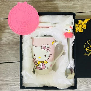 Creative Cartoon Cat Mug My Pets Gate Light Pink Gift Package