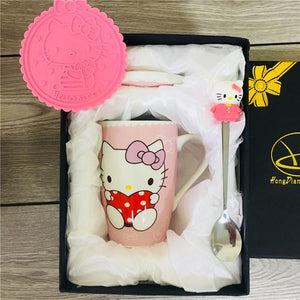 Creative Cartoon Cat Mug My Pets Gate Pink Gift Package