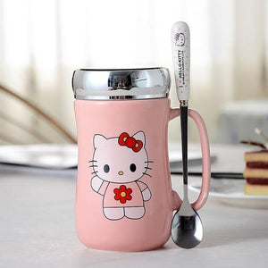 Creative Cartoon Cat Mug My Pets Gate Plain Single Pink