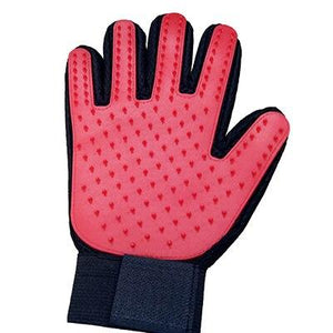 Pet Grooming Glove Pet accessories My Pets Gate Red Left hand
