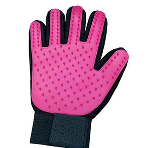 Pet Grooming Glove Pet accessories My Pets Gate Rose Red Left hand