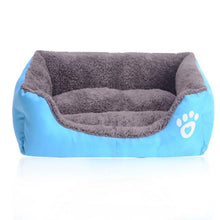 Load image into Gallery viewer, Petstyle Rectangle Bed My Pets Gate Blue S