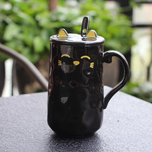 Spoony Cat Mug My Pets Gate black