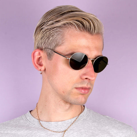 Vintage BAO Silver Round Sunglasses
