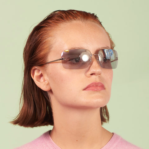 Y2K Chanel Rimless Sunglasses