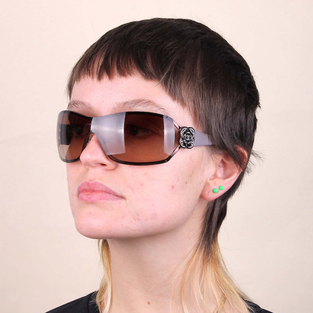 Vintage Chanel Y2K 2000s wraparound sunglasses