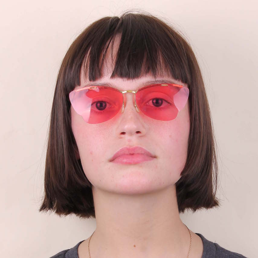 Vintage Pink Angel Sunglasses