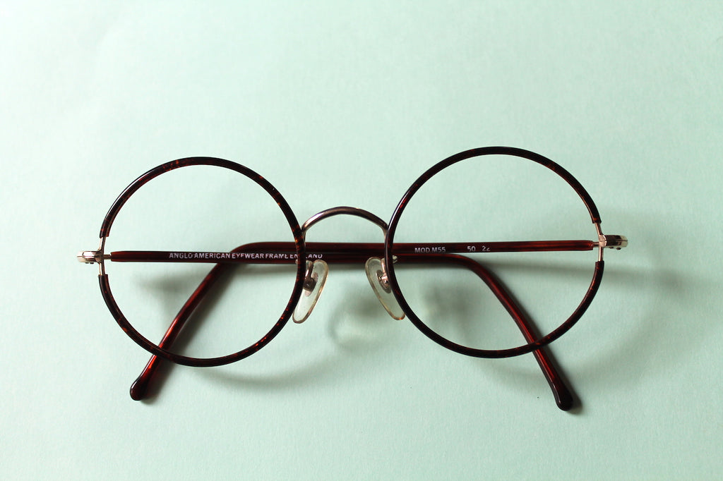 Vintage Round Anglo American Glasses Frames - Lunettes London