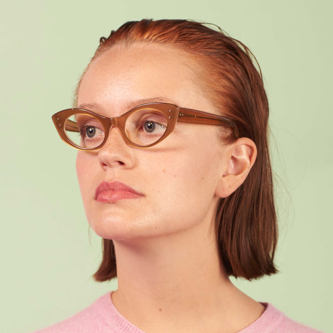 Vintage Caramel Cat Eye Glasses Frames
