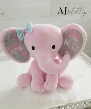Load image into Gallery viewer, Pink Elephant Baby Plush Keepsake
