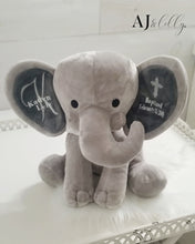 Load image into Gallery viewer, Baptismal Baby Elephant Plush Keepsake