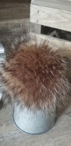 Brown Stripe Sable Pom