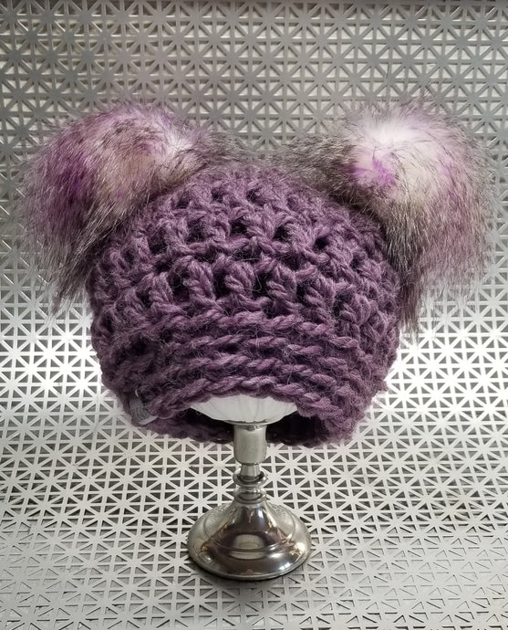 SUGAR PLUM handmade. fleece lined. warm