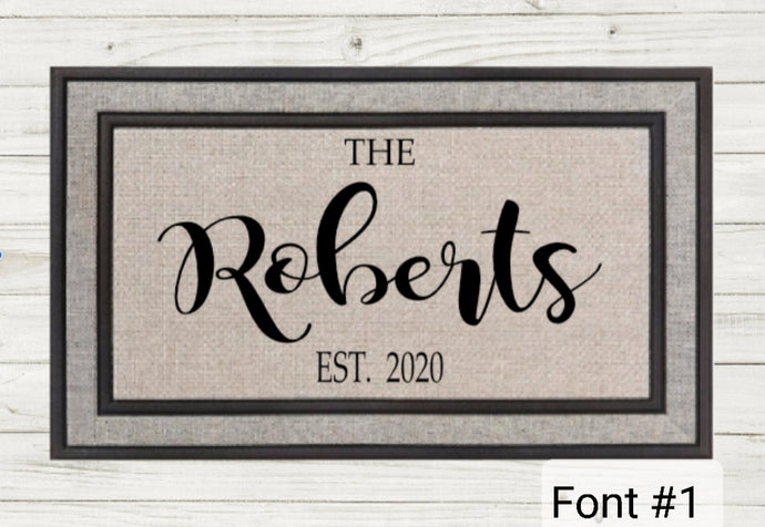 Personalized Doormat- Simple Name 3 STYLES!