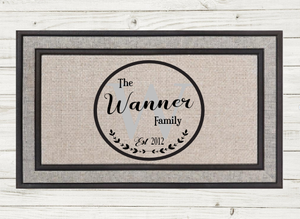 Personalized Doormat-Monogram Circle