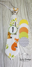 Load image into Gallery viewer, Foxy Forest Bright Milestone Tie Set
