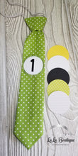Load image into Gallery viewer, Go Go Green Milestone Tie Set