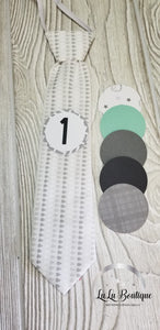 Gray Drop Milestone Tie Set