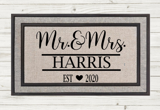 Personalized Doormat- Mr & Mrs