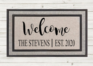 Personalized Doormat-Welcome Name