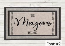 Load image into Gallery viewer, Personalized Doormat- Willow Stripe