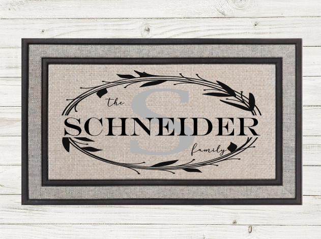 Personalized Doormat-Monogram Wreath