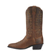 Heritage Western R Toe Distressed Brown side