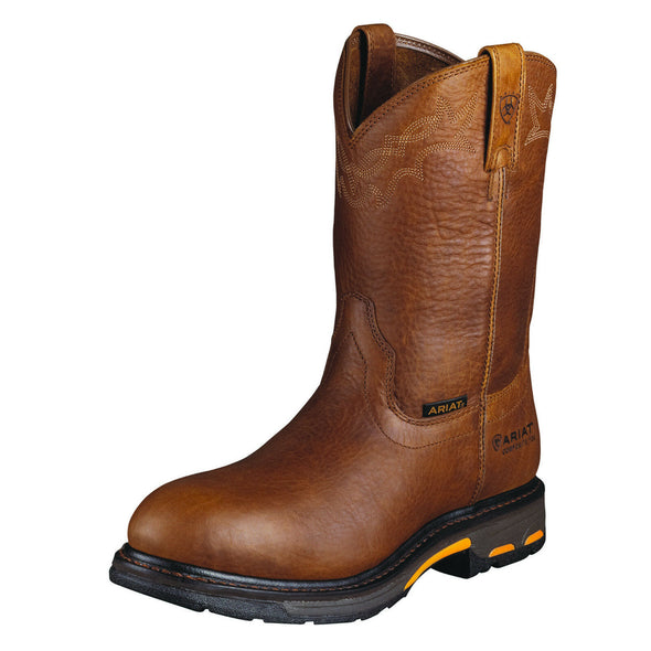 Men's Workhog Pull-on Ct Boots in Golden Grizzly 10001186 Ariat