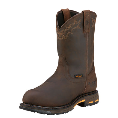 Men's WorkHog Waterproof Composite Toe Work Boots in Oily Distressed Brown, 10001200 Ariat