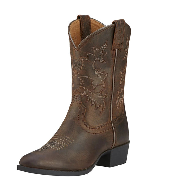 Ariat Kid's Heritage Western Distressed Brown 10001825