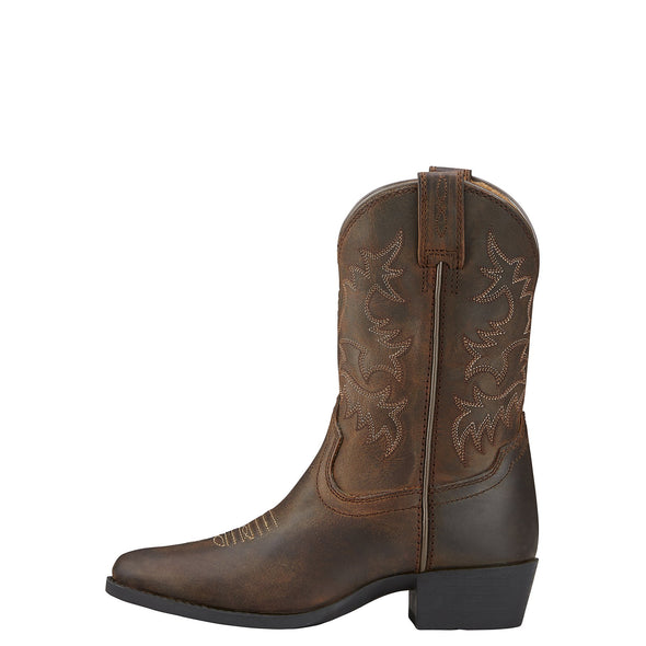 Ariat Kid's Heritage Western Distressed Brown side