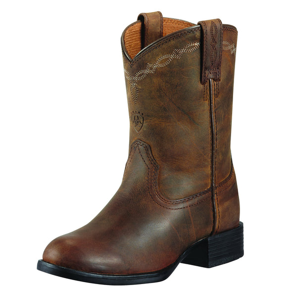 Ariat Kid's Heritage Roper Distressed Brown 10001850