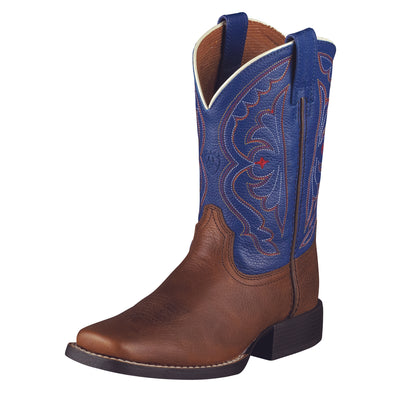 Ariat Kid's Quickdraw Brown Oiled Rowdy  / Royal 10001863