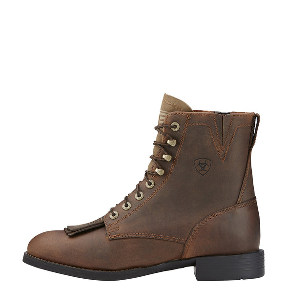 Heritage Lacer II Distressed Brown side